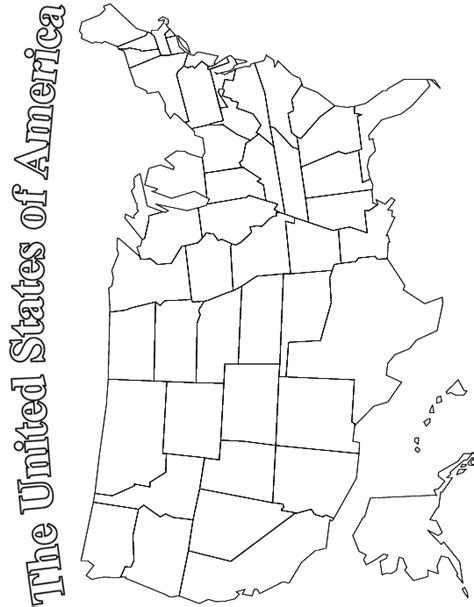 coloring page united states u s map coloring page