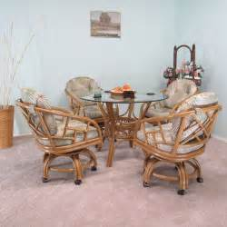 Caster Chair Dining Sets Made In Usa Rattan Chiba Dining Caster Chair Table Gaming Furniture 5pc Set Ebay