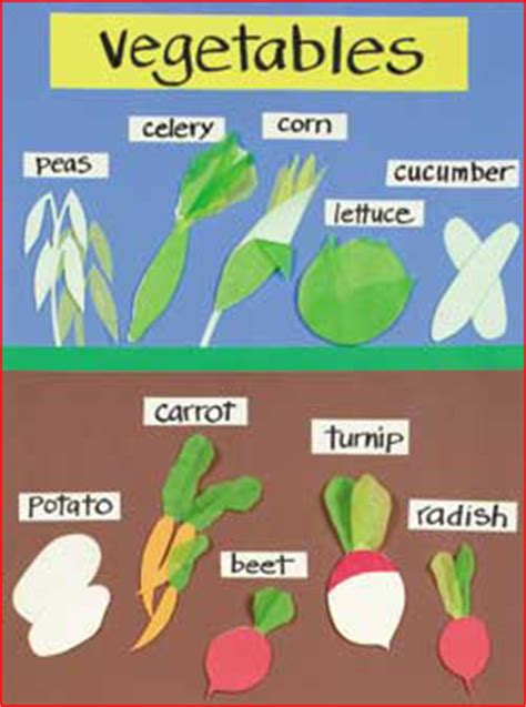 vegetables underground on spelling index