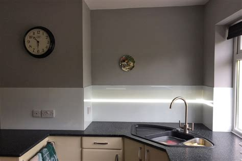 kitchen sink splashback glass splashback behind kitchen sink with led strip min