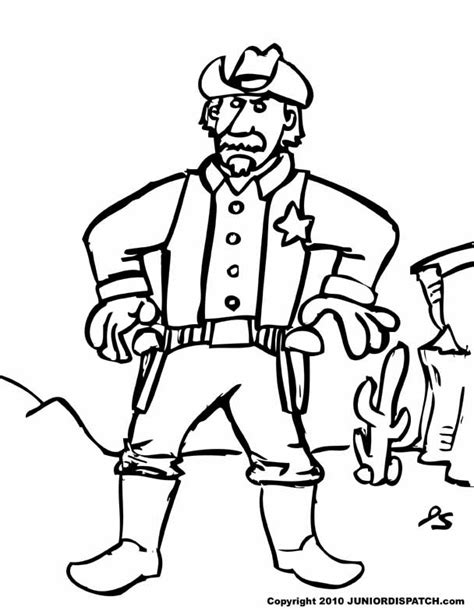 sheriff 3 characters printable coloring pages