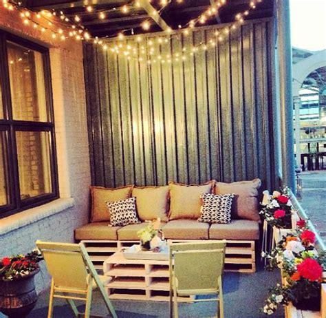 Balcony sofa lights