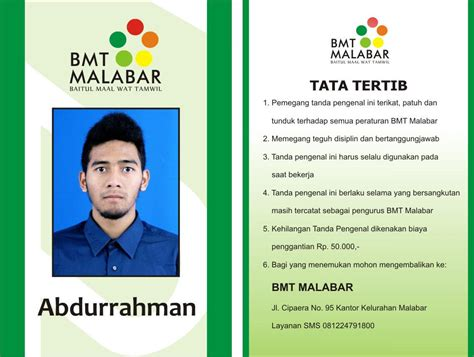 contoh kartu nama word job seeker contoh id card bank bni job seeker