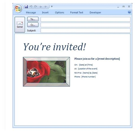 e invite template email invitation template