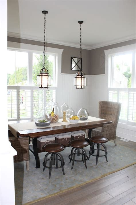 dining room wainscoting dream home pinterest the fat hydrangea parade of homes week house 1 bead