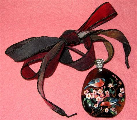 How Do I Check My Red Robin Gift Card Balance - russian unique gift hand painted stone pendant red robin birds signed gorbachova
