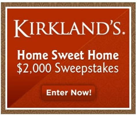 Kirklands Gift Card Balance - kirkland s 2 000 sweepstakes coupons