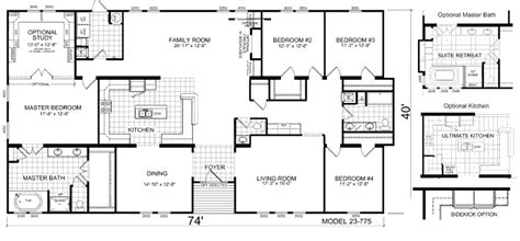 triple wide manufactured home floor plans triple wide mobile home floor plans manufactured