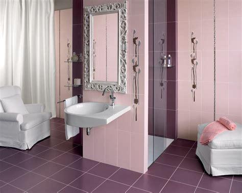 piastrelle rosa piastrelle bagno rosa e grigio decorazioni per la casa