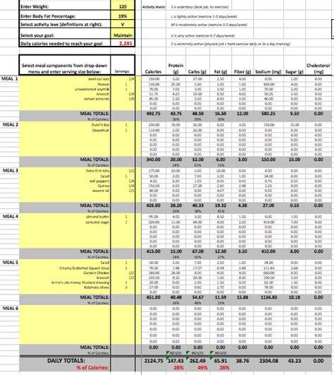 Food Spreadsheet Best Photos Of Daily Food Log Excel Free Daily Food Log
