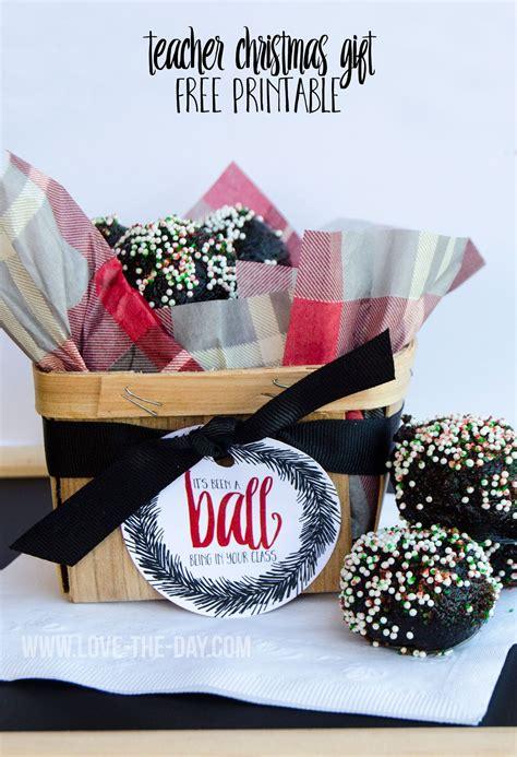 oreo cookie balls christmas teacher gift idea free printable