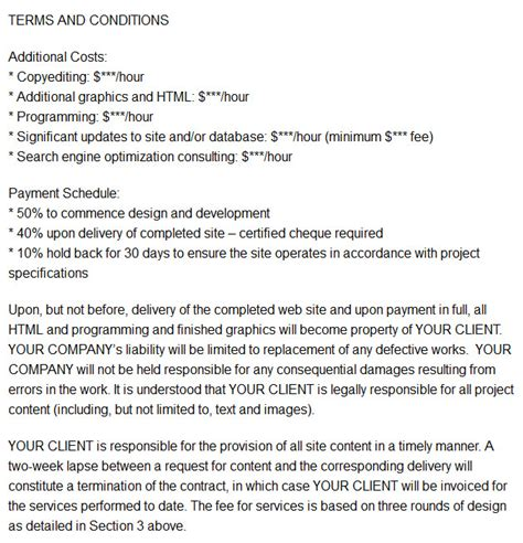 Contract Letter Format For Freelancer 10 Freelance Web Design Contract Templates And Sles Develop A Website