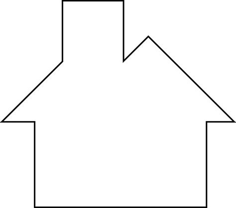 template of house outline of a house cliparts co