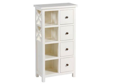 mueble auxiliar blanco  estantes  cajones deosa blog de artesania  decoracion