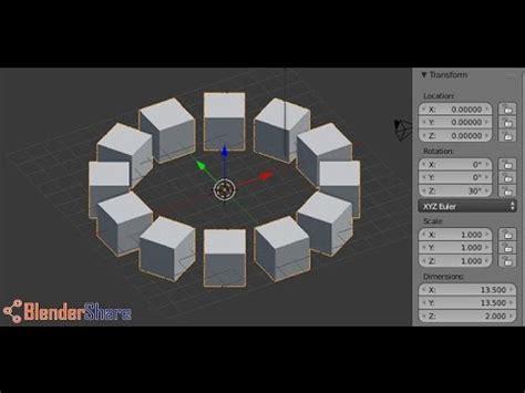 Duplicate A Shape Around A Circle Using Array Modifier In   duplicate a shape around a circle using array modifier in
