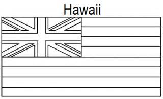 geography blog hawaii state flag coloring page
