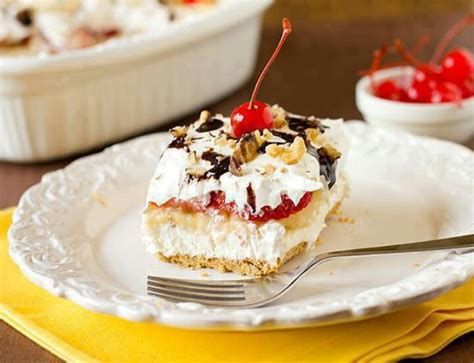 No Bake Banana Split Cake No Bake Banana Split Cake Treats