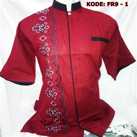 Exclusive Baju Koko Putih Lengan Pendek Termurah baju koko putih lengan pendek bordir busana muslim pria