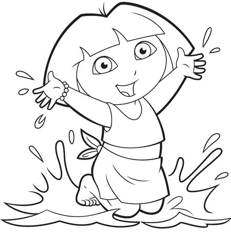free coloring pages of dora and friends