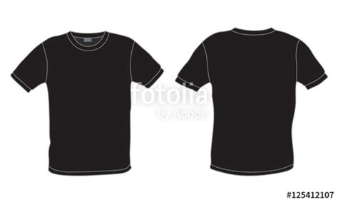 Kaos 25 Buy Side quot black s t shirt template vector front and back view