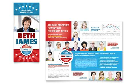 political brochure templates political candidate brochure template design