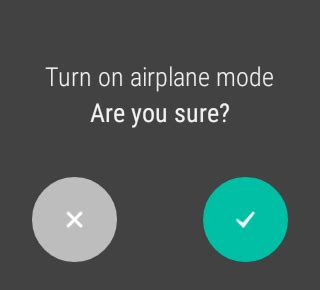 Android Yes No Dialog by Android Wear Yes Or No Confirmation Dialog Stack Overflow