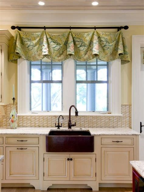 impressive kitchen window treatment ideas valances