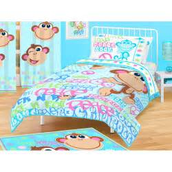 Monkey Duvet Set Flannel Duvet Cover Coral Fleece Separate Thickening Twin