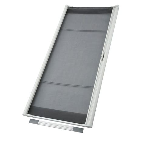 odl 36 in x 96 in brisa white retractable screen door zsmtw03 the home depot