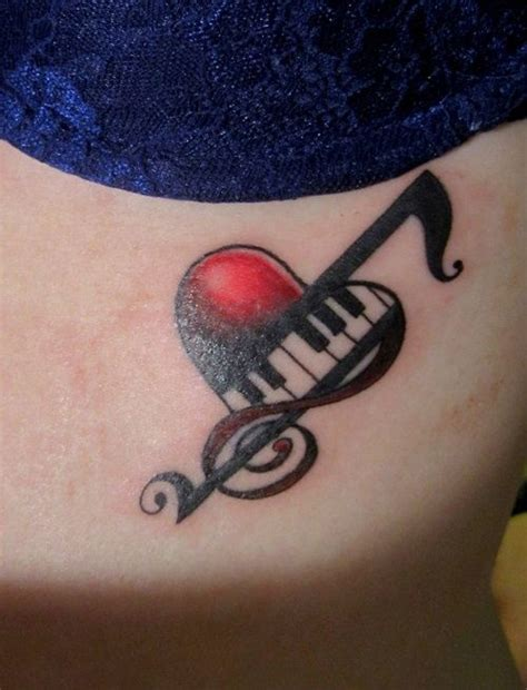 tattooed heart notes hearts and music notes tattoos www imgkid com the