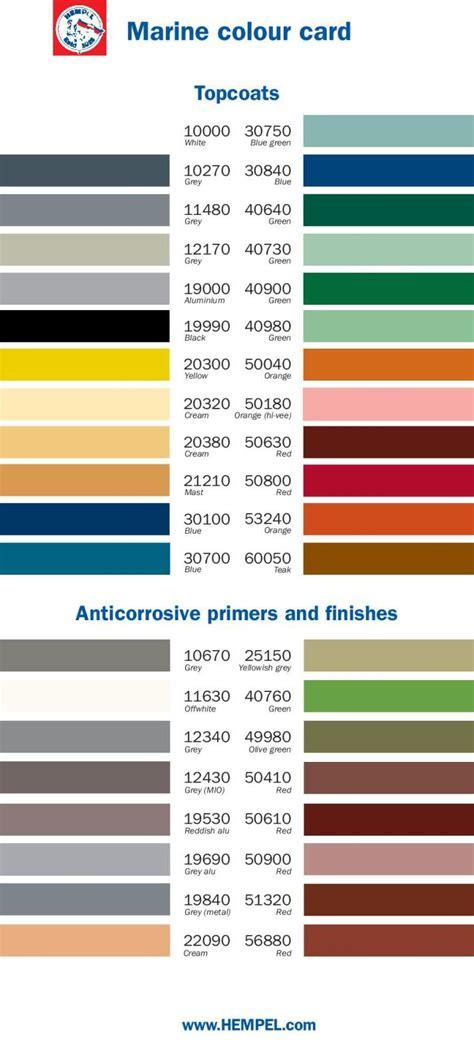 color charts  marine paint color card pompeis marine