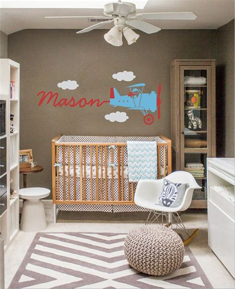 vintage airplane wall decal skywriter for nursery baby