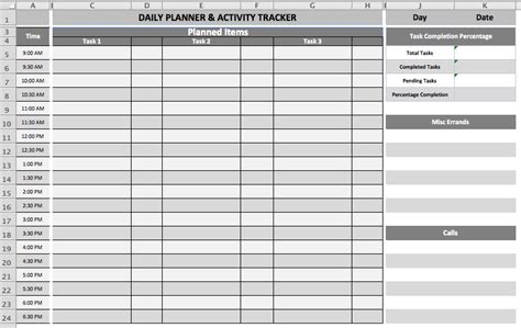 excel template for daily tasks daily task planner template microsoft office templates