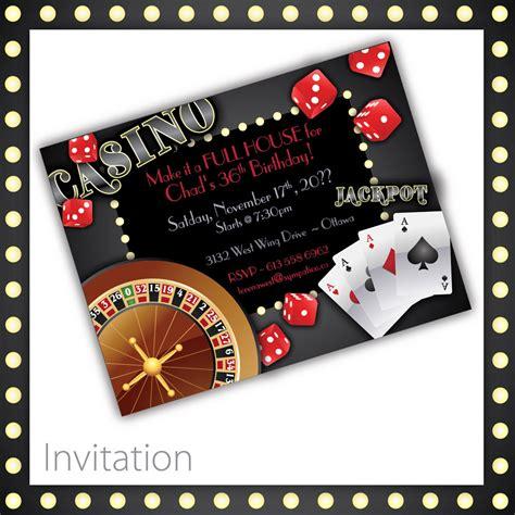 free templates for casino invitations casino invitations casino night casino birthday