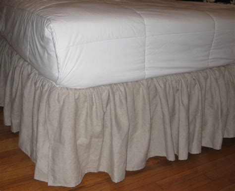 linen bed skirt king size ruffles bedskirt in linen