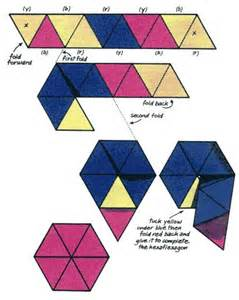 How To Make A Flexagon Out Of Paper - how to make a hexaflexagon