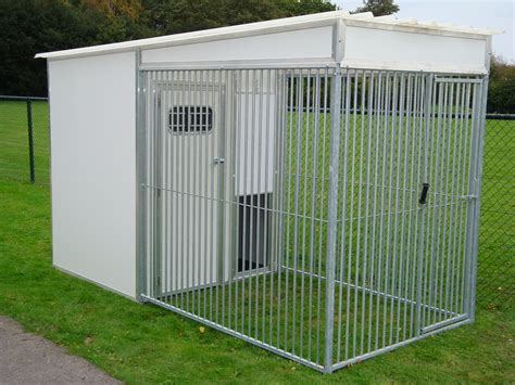 kennels and runs thermal insulated kennels single unit and block units with standard 2m x 1 5m run