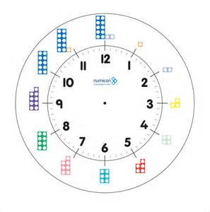 Clock Template by Sle Clock 11 Documents In Pdf Word