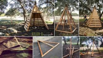 Outdoor Wood Furniture Building Plans by Diy Cedar Play Teepee Home Design Garden Amp Architecture Blog Magazine