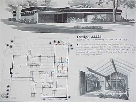 mid century modern homes floor plans atomic ranch house plans mid century modern ranch house