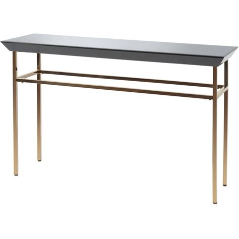 copper sofa table buy libra black glass and copper console table from fusion