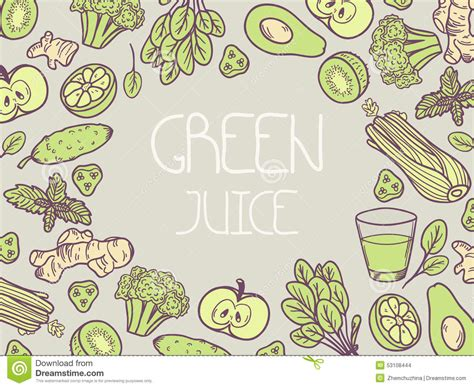 vegetable doodle vector free green juice vector illustration background with vegetable