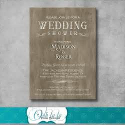 rustic wedding shower invitation by oohlalaposhdesigns