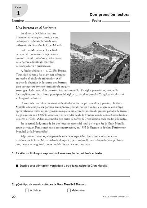 santillana para alumnos de educacin primaria aprender a leer comprensi 243 n lectora 21 fichas de la editorial santillana