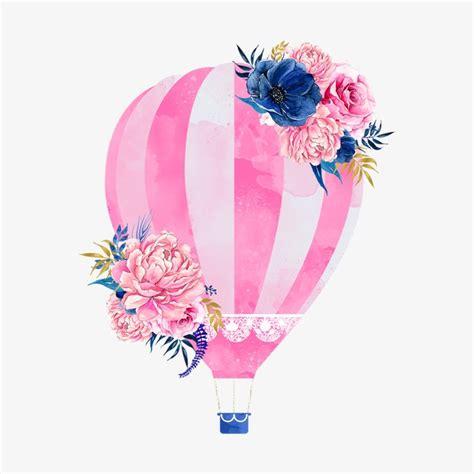 diy real hot air balloon pink hot air balloon balloon clipart pink hot png image