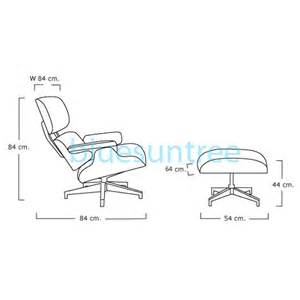 lounge chair size eames chair dimension