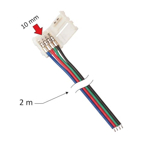 Led Kabel led adapter lichtband verbindungskabel kabel pin stecker clip ecke eck rgb ebay