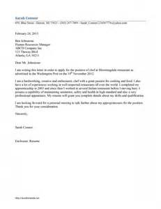 chef cover letter template free microsoft word templates