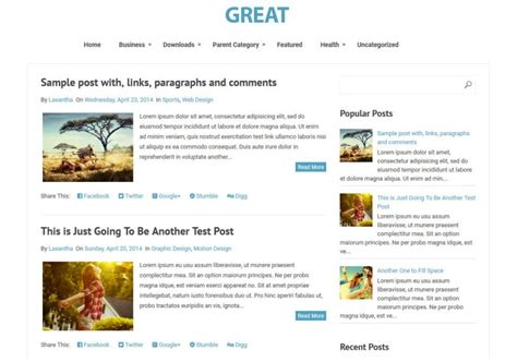 great simple responsive blogger template free graphics