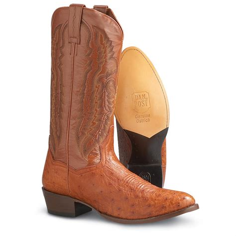 smooth ostrich boots s dan post 174 smooth ostrich boots cognac 114213